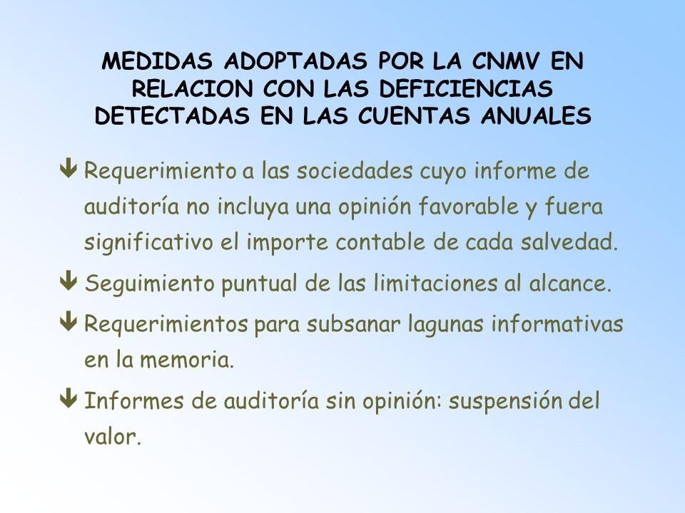 INFORME ESPECIAL DE LOS AUDITORES êJunto a la información correspondiente al primer semestre.