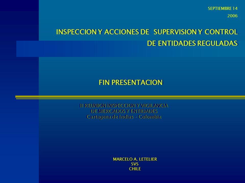 INSPECCION Y ACCIONES DE SUPERVISION Y CONTROL DE ENTIDADES REGULADAS INSPECCION Y ACCIONES DE SUPERVISION Y CONTROL DE ENTIDADES REGULADAS II REUNION