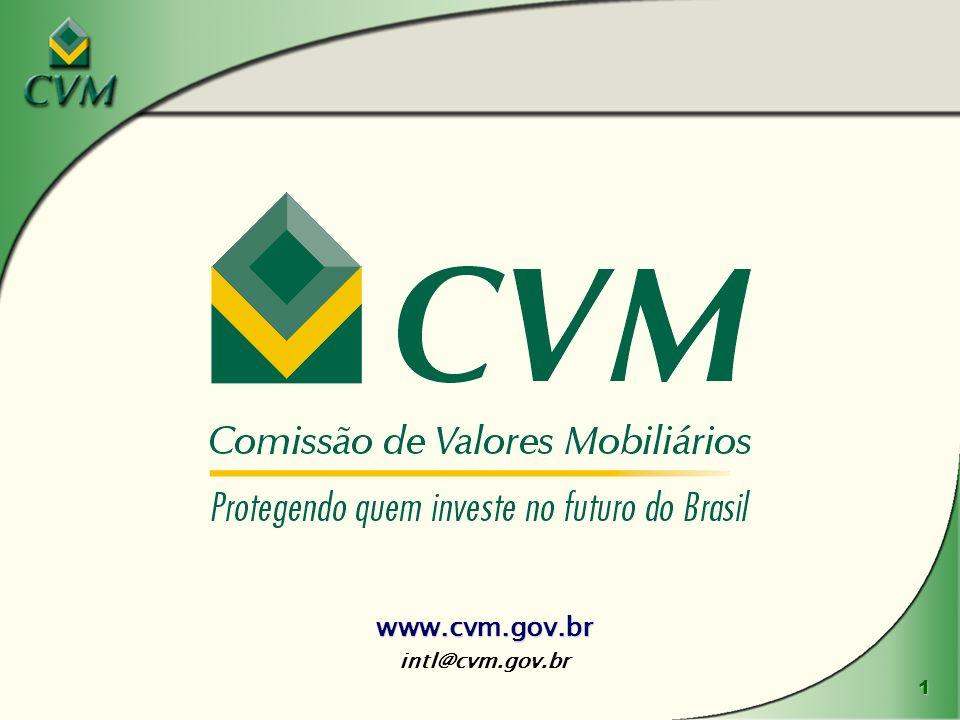 1 www.cvm.gov.br intl@cvm.gov.br