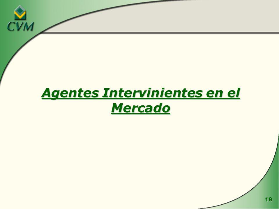 19 Agentes Intervinientes en el Mercado
