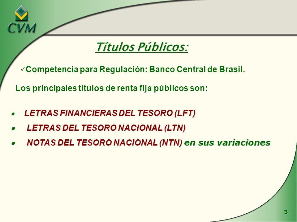 3 LETRAS FINANCIERAS DEL TESORO (LFT) LETRAS FINANCIERAS DEL TESORO (LFT) LETRAS DEL TESORO NACIONAL (LTN) LETRAS DEL TESORO NACIONAL (LTN) NOTAS DEL