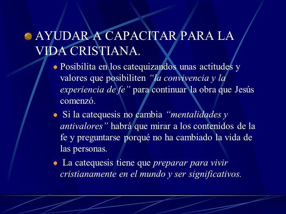 INICIAR EN LA FE Formando cristianos que lleguen a una fe adulta. El catequista en un entrenador; un desmontador de la fe infantil; un hombre o mujer