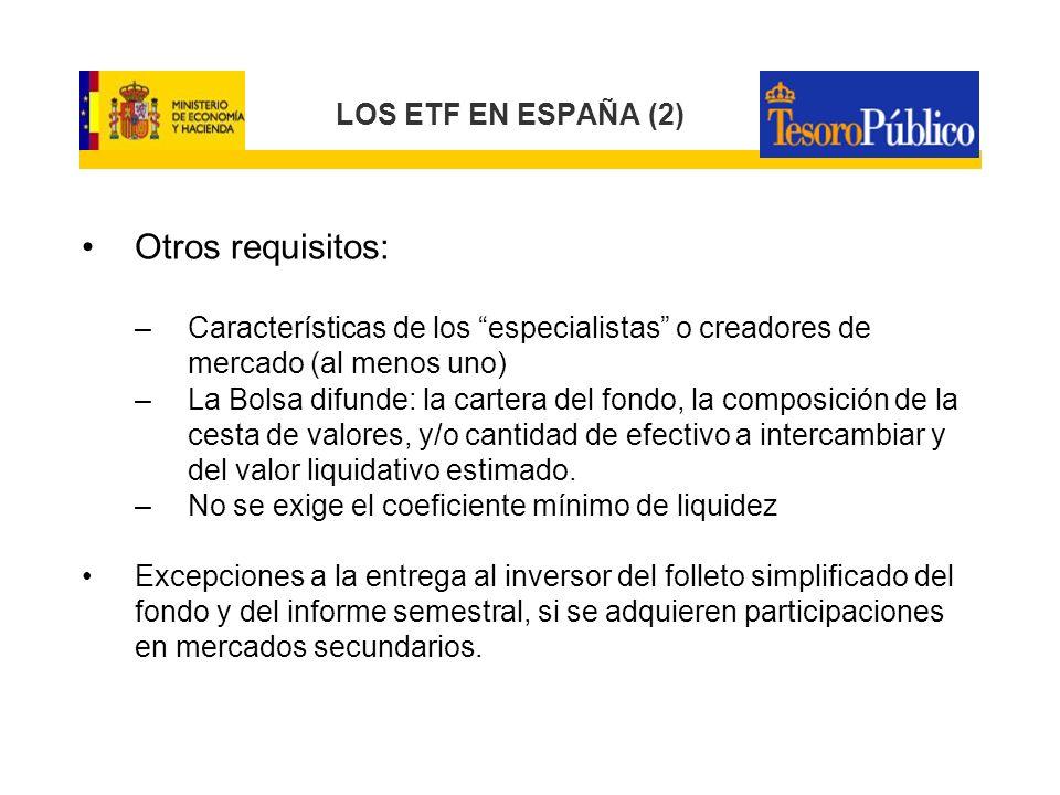 ETFs Extranjeros negociados en el mercado español Los autorizados conforme a la Directiva 85/611/CEE (Fondos armonizados).