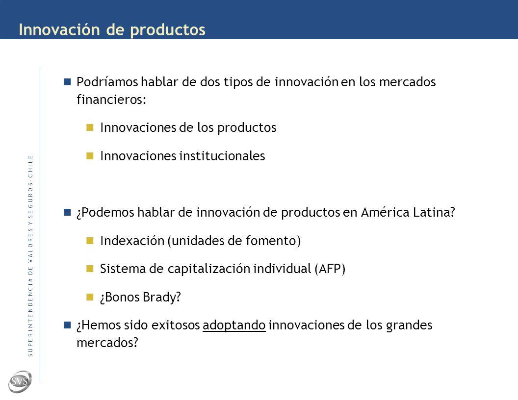 VII Curso de Regulación y Supervisión de Mercados Sudamericanos de Valores Santa Cruz de la Sierra, del 24 al 27 de Octubre 2006 La Innovación de Prod