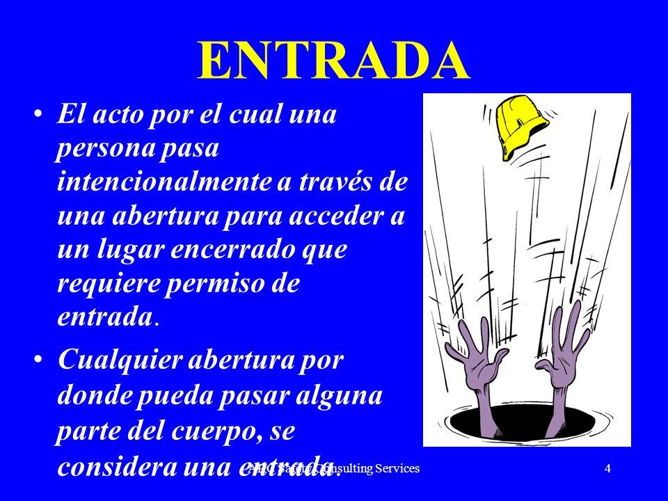 ARC Safety Consulting Services4 ENTRADA El acto por el cual una persona pasa intencionalmente a través de una abertura para acceder a un lugar encerra