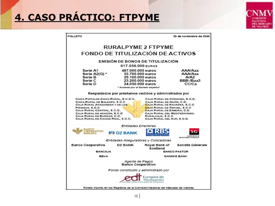 15 4. CASO PRÁCTICO: FTPYME