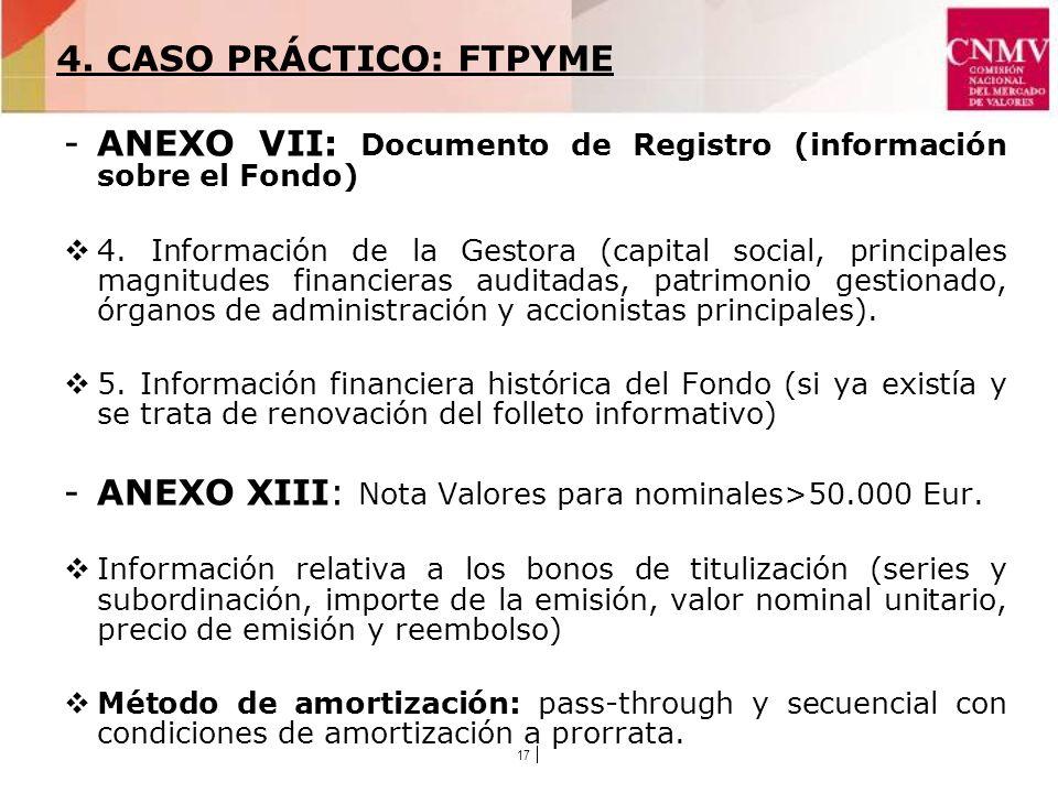 17 -ANEXO VII: Documento de Registro (información sobre el Fondo) 4.