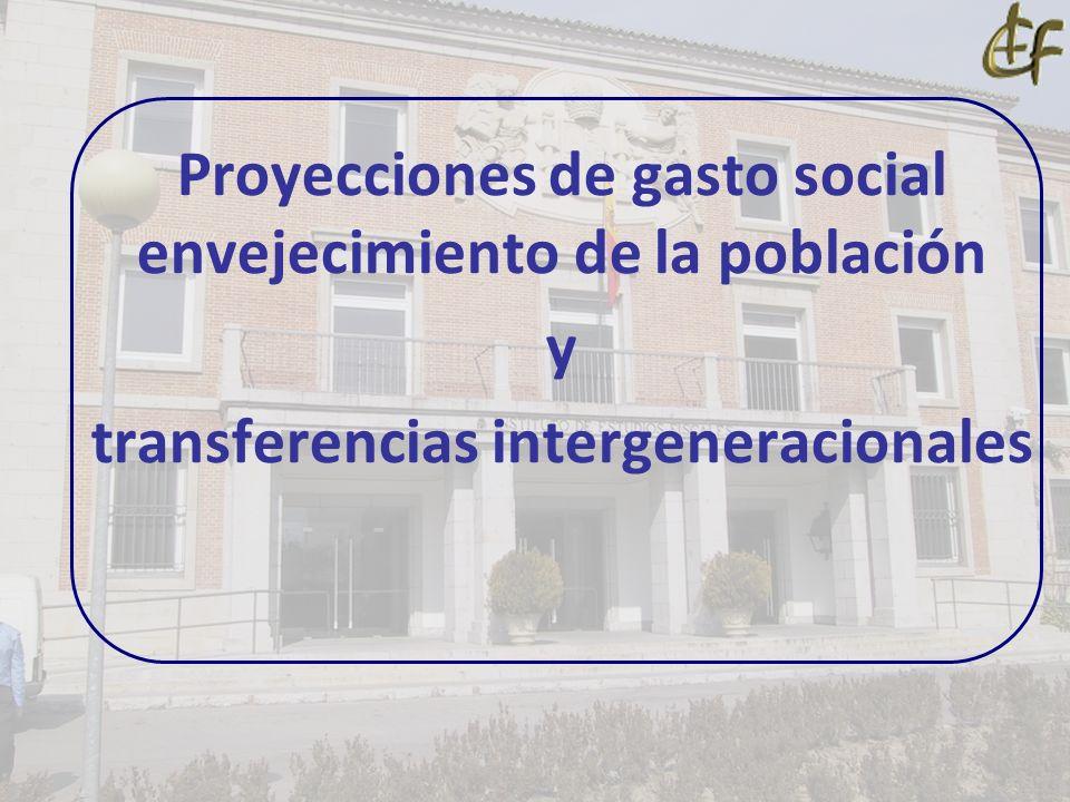 Proyecciones de gasto social envejecimiento de la población y transferencias intergeneracionales