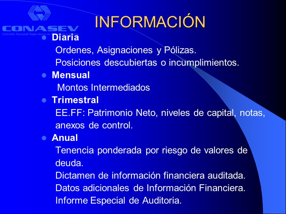 PROGRAMAS DE AUDITORÍA OPERATIVA Operaciones Bursátiles y extrabursátiles – Registro de Clientes – Ordenes – Asignación de Operaciones
