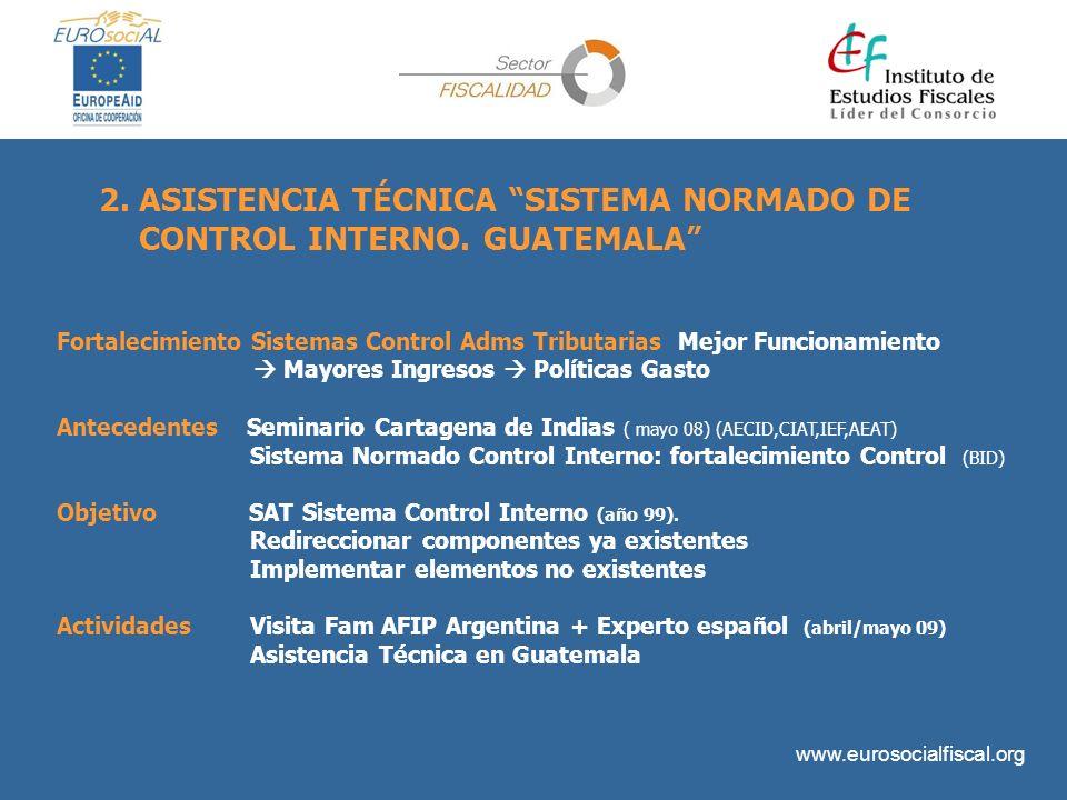 www.eurosocialfiscal.org Fortalecimiento Sistemas Control Adms Tributarias Mejor Funcionamiento Mayores Ingresos Políticas Gasto Antecedentes Seminari