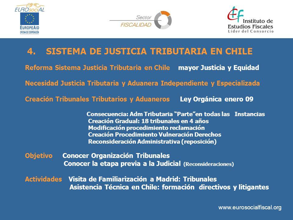 www.eurosocialfiscal.org Reforma Sistema Justicia Tributaria en Chile mayor Justicia y Equidad Necesidad Justicia Tributaria y Aduanera Independiente