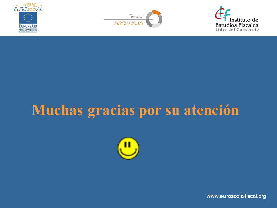 www.eurosocialfiscal.org Muchas gracias por su atención