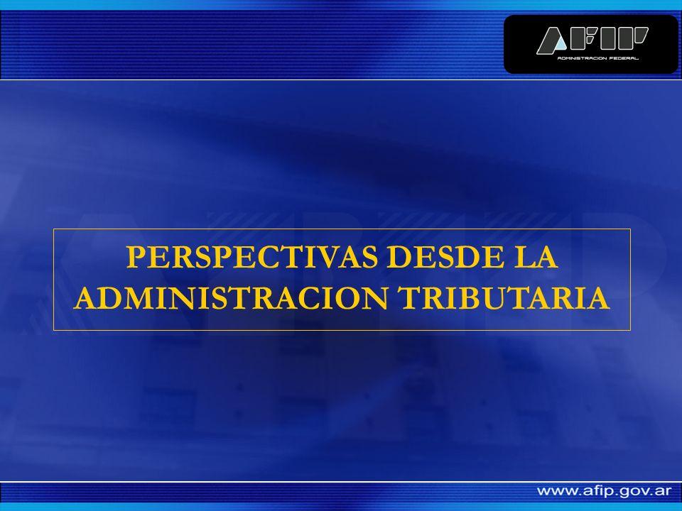 PRODUCTO BRUTO INTERNO / RECURSOS TRIBUTARIOS