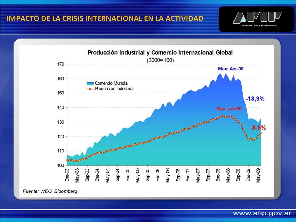 IMPACTO DE LA CRISIS INTERNACIONAL EN LA ACTIVIDAD