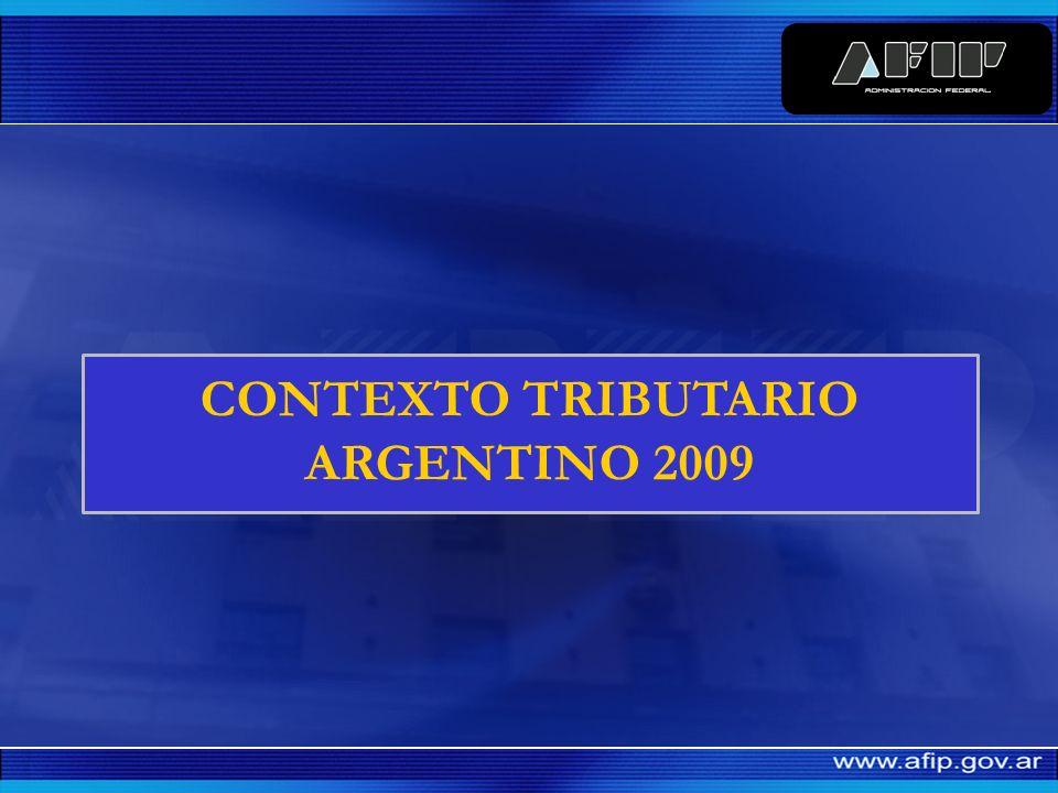 CONTEXTO TRIBUTARIO ARGENTINO 2009