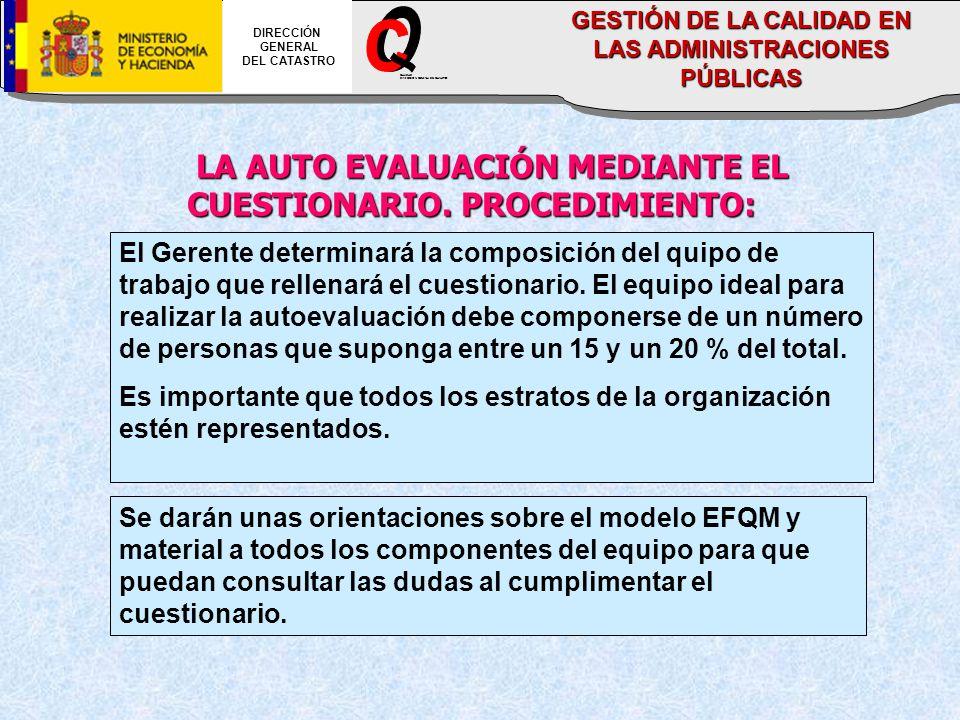 LA AUTO EVALUACIÓN MEDIANTE EL CUESTIONARIO.