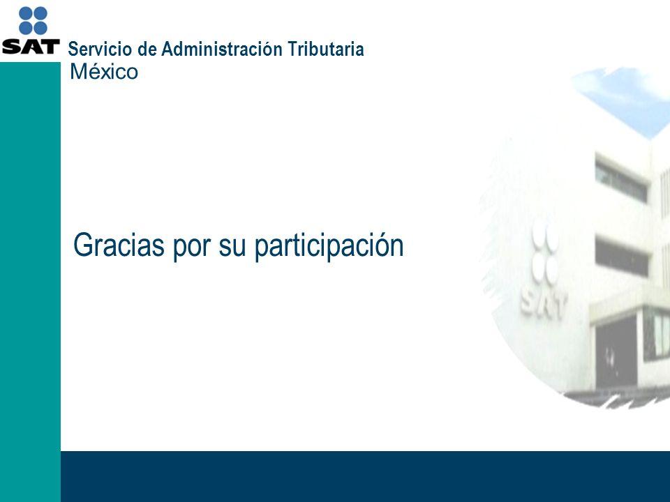 Gracias por su participación México Servicio de Administración Tributaria