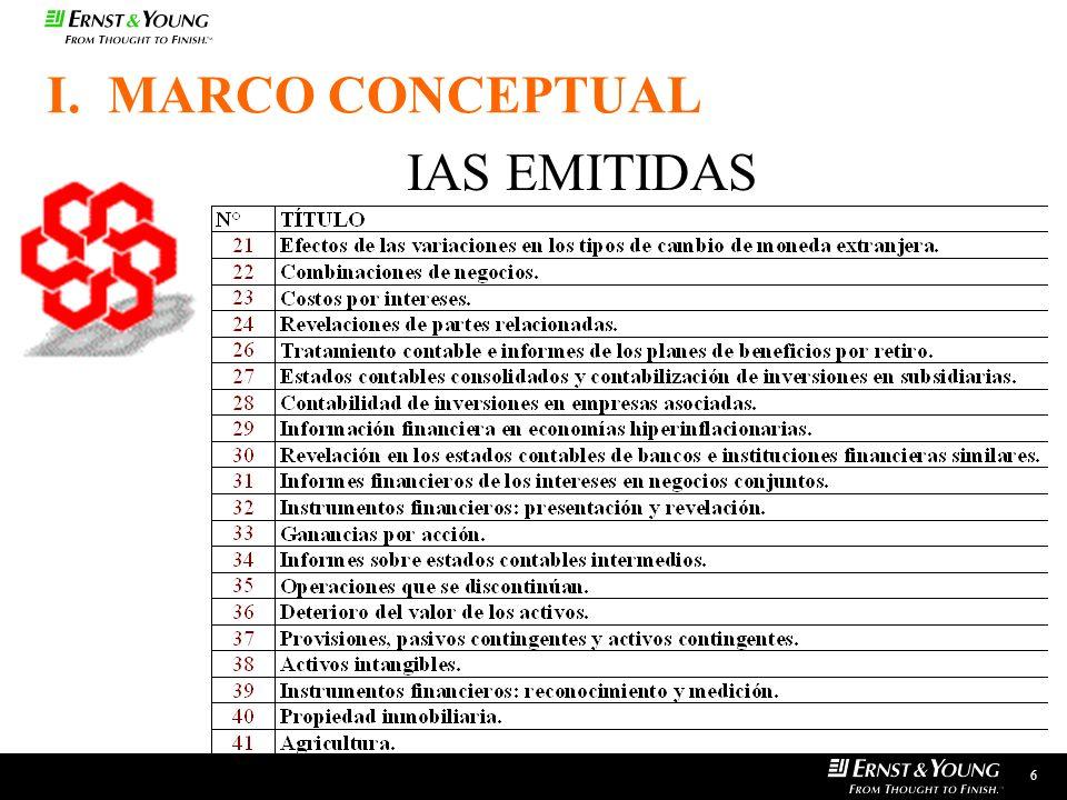 6 IAS EMITIDAS I. MARCO CONCEPTUAL