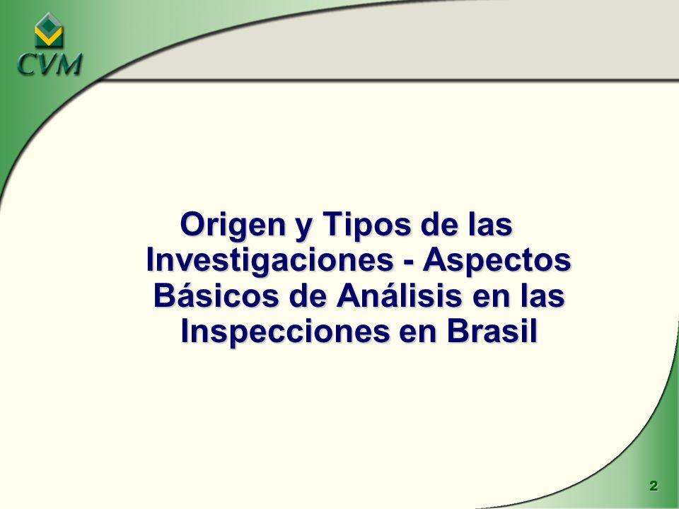 2 Origen y Tipos de las Investigaciones - Aspectos Básicos de Análisis en las Inspecciones en Brasil