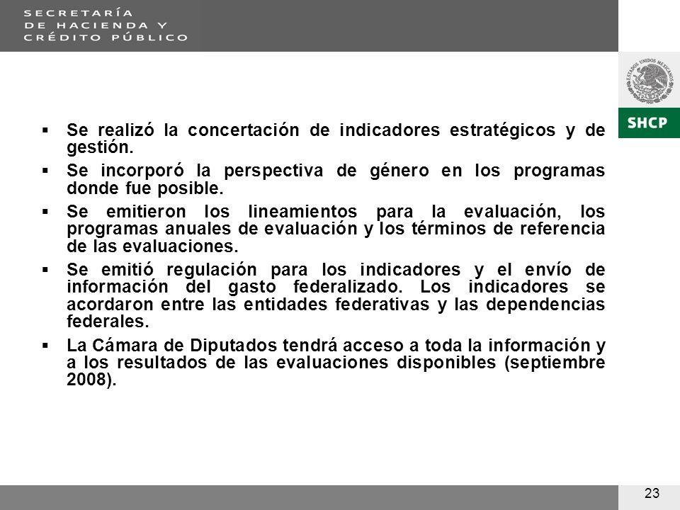 23 Se realizó la concertación de indicadores estratégicos y de gestión.