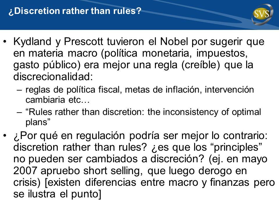 ¿Discretion rather than rules? Kydland y Prescott tuvieron el Nobel por sugerir que en materia macro (política monetaria, impuestos, gasto público) er