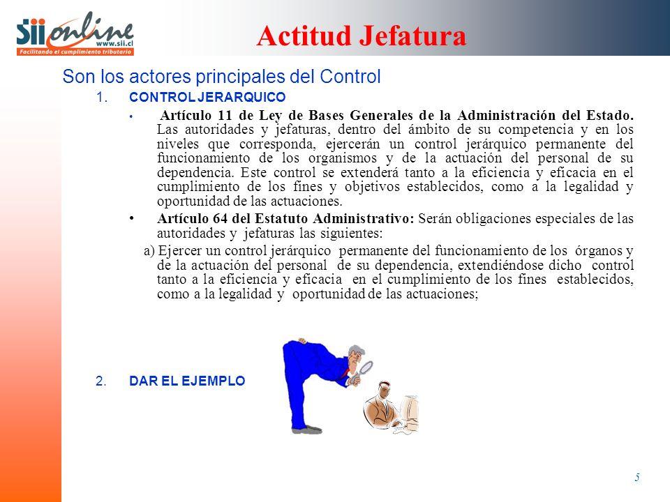 5 Actitud Jefatura Son los actores principales del Control 1.