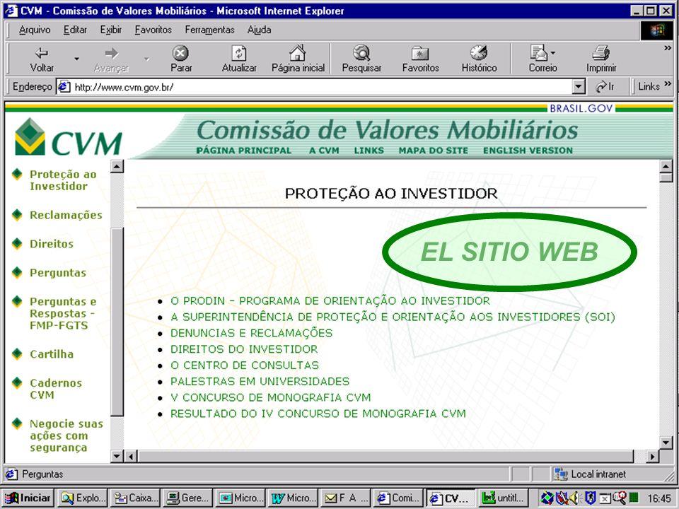 15 EL SITIO WEB