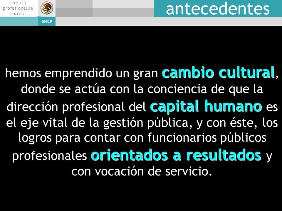 talent servicio profesional de carrera antecedentes cambio cultural capital humano orientados a resultados hemos emprendido un gran cambio cultural, d