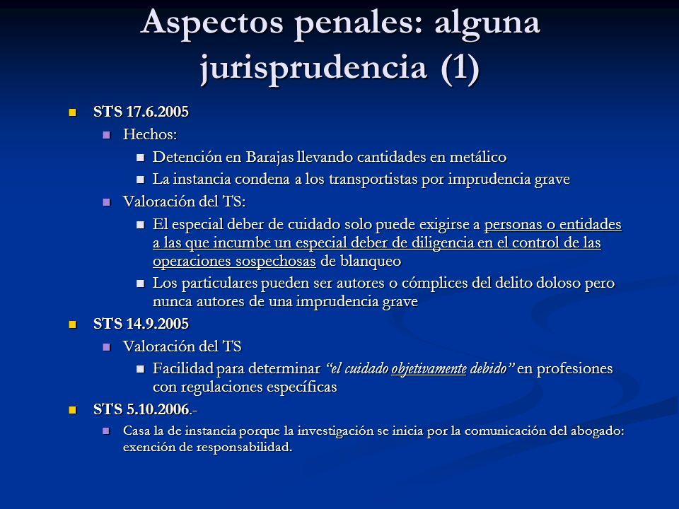 STS 17.6.2005 STS 17.6.2005 Hechos: Hechos: Detención en Barajas llevando cantidades en metálico Detención en Barajas llevando cantidades en metálico