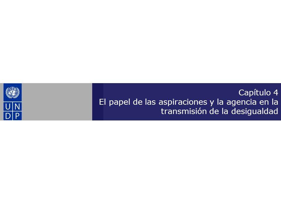 Capítulo 4 El papel de las aspiraciones y la agencia en la transmisión de la desigualdad