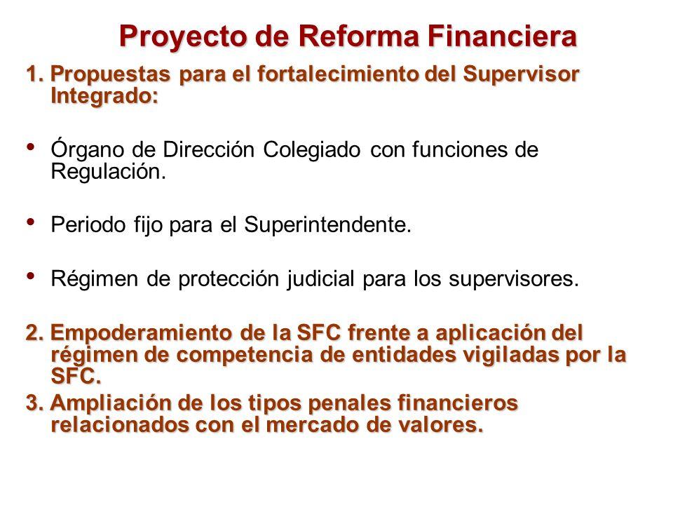 1. Propuestas para el fortalecimiento del Supervisor Integrado: Órgano de Dirección Colegiado con funciones de Regulación. Periodo fijo para el Superi