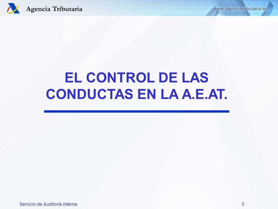 Servicio de Auditoría Interna46 1.- AMBITO: CONDUCTAS IRREGULARES.