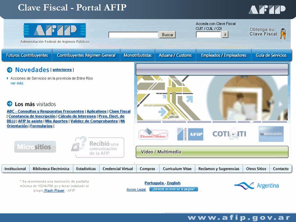 Clave Fiscal - Portal AFIP