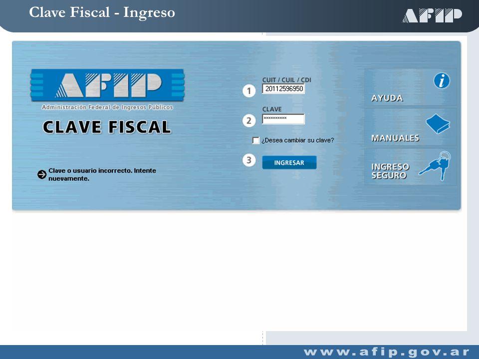 Clave Fiscal - Servicios Habilitados