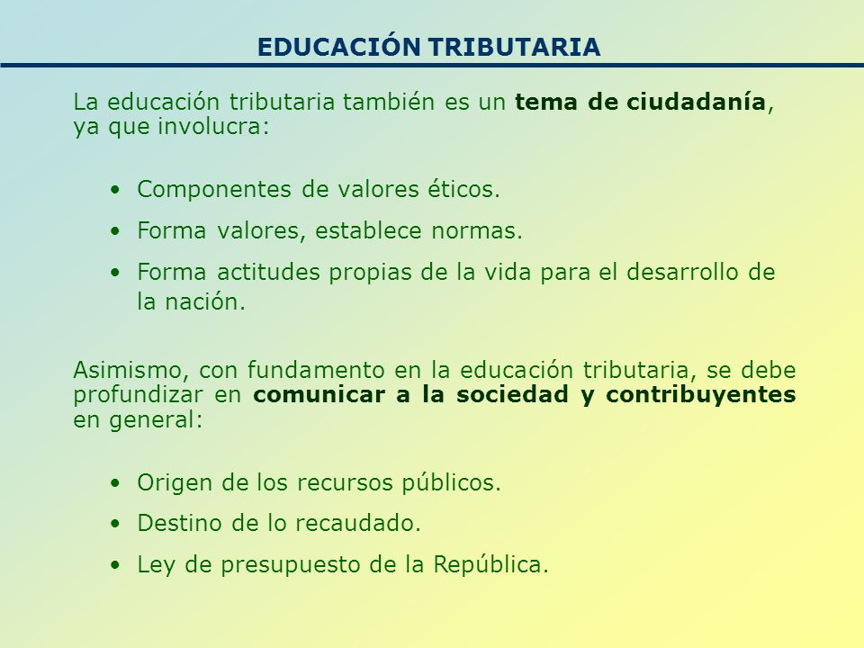 Antecedentes: Con el objetivo de promover la cultura tributaria en Nicaragua en los futuros contribuyentes, niños, adolescentes, jóvenes y adultos, en el mes de agosto del año 2005 se suscribe el Convenio Interinstitucional entre el Ministerio de Educación y la Dirección General de Ingresos.