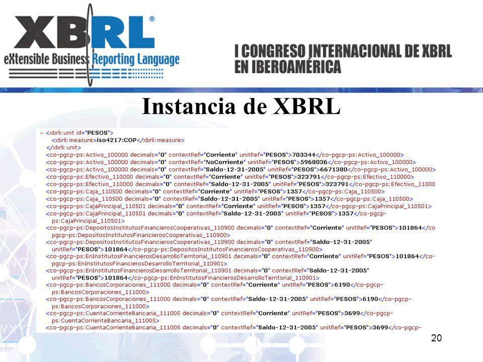 Instancia de XBRL 20