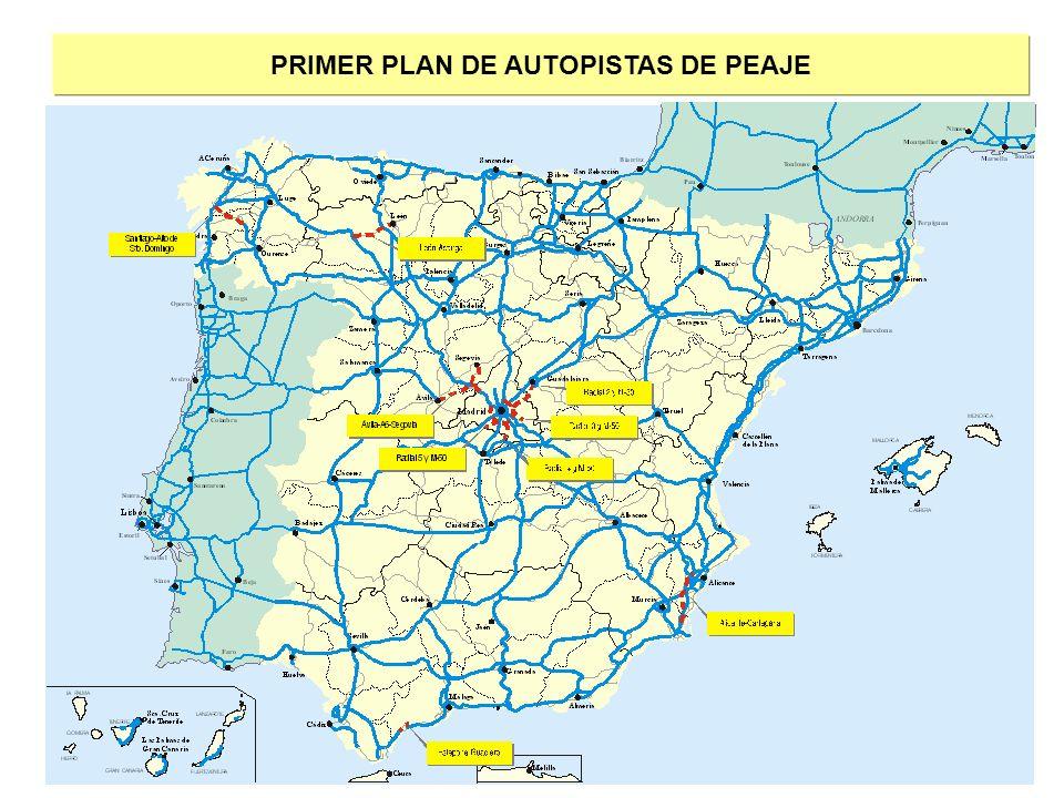 PRIMER PLAN DE AUTOPISTAS DE PEAJE