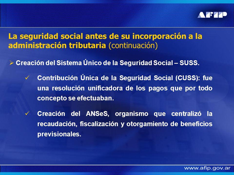 La seguridad social antes de su incorporación a la administración tributaria La cobertura de los diferentes eventos estaba contemplada en subsistemas