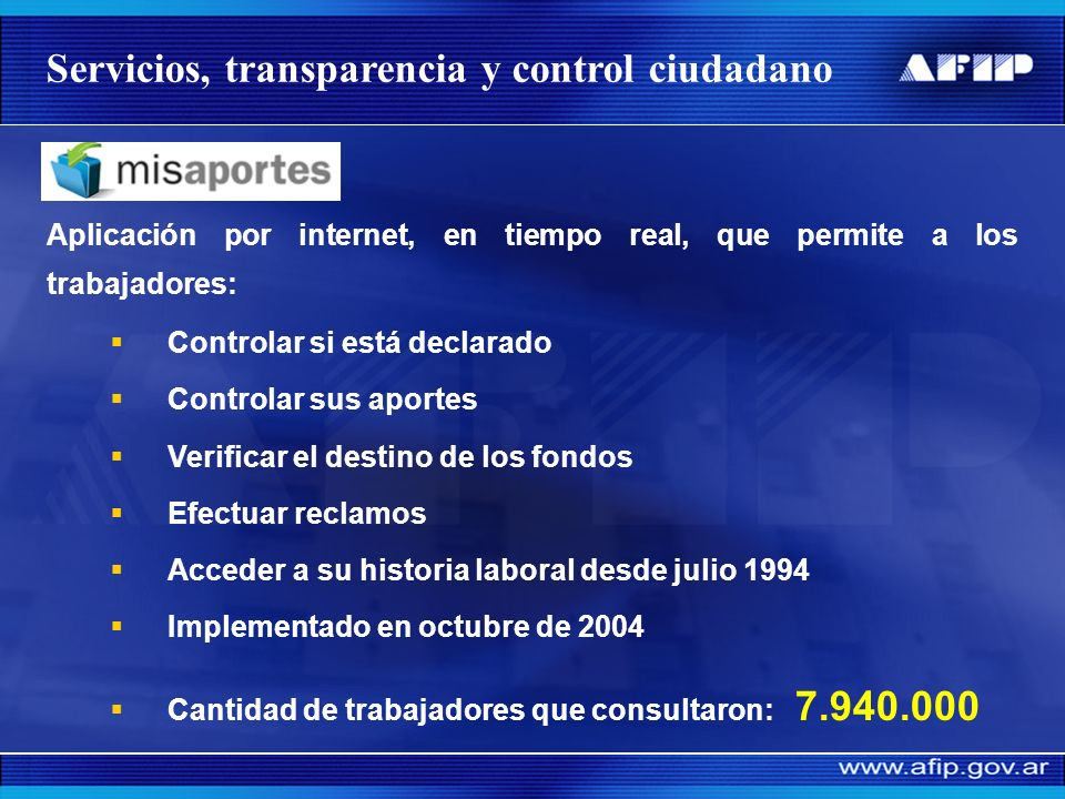 Sistema de Información Web para Contribuyentes Autónomos y Monotributistas (SICAM): Permite que los trabajadores independientes (autónomos): Observen