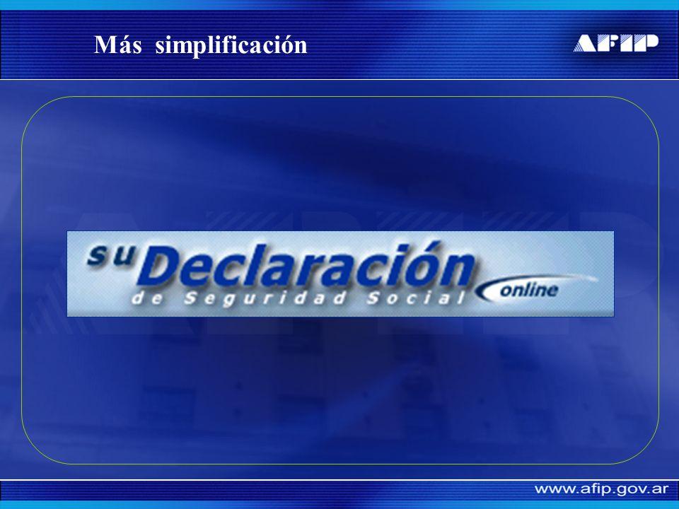 Principales números miSimplificación Programa de simplificación registral Movimientos desde el 01/08/2006 al 09/10/2007 Altas 6.100.000 Bajas 5.140.00