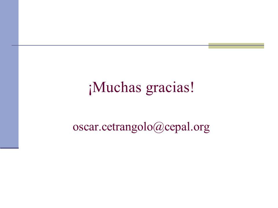 ¡Muchas gracias! oscar.cetrangolo@cepal.org