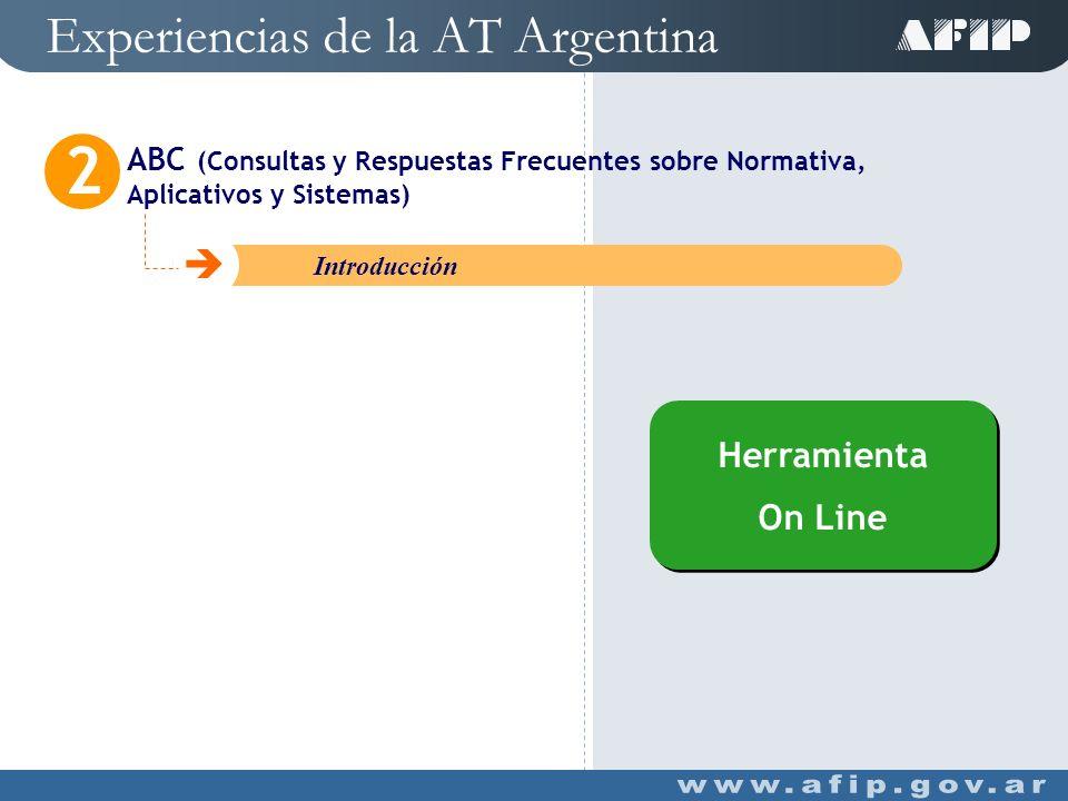 Experiencias de la AT Argentina ¿Necesita Ayuda.