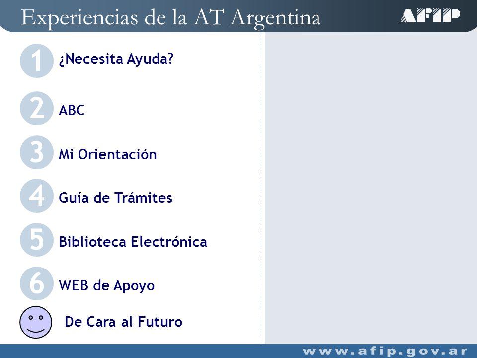 Experiencias de la AT Argentina ABC (Consultas y Respuestas Frecuentes sobre Normativa, Aplicativos y Sistemas) 2 C Servicios Disponibles - Normativa Por ID de consulta Por palabra clave (general o por tema) Buscador