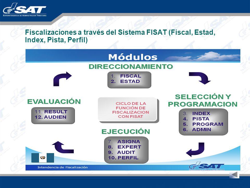Fiscalizaciones a través del Sistema FISAT (Fiscal, Estad, Index, Pista, Perfil)