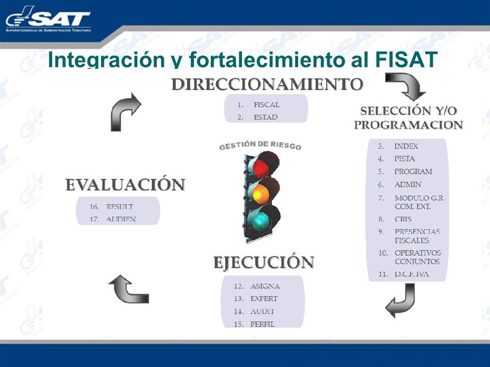 Integración y fortalecimiento al FISAT