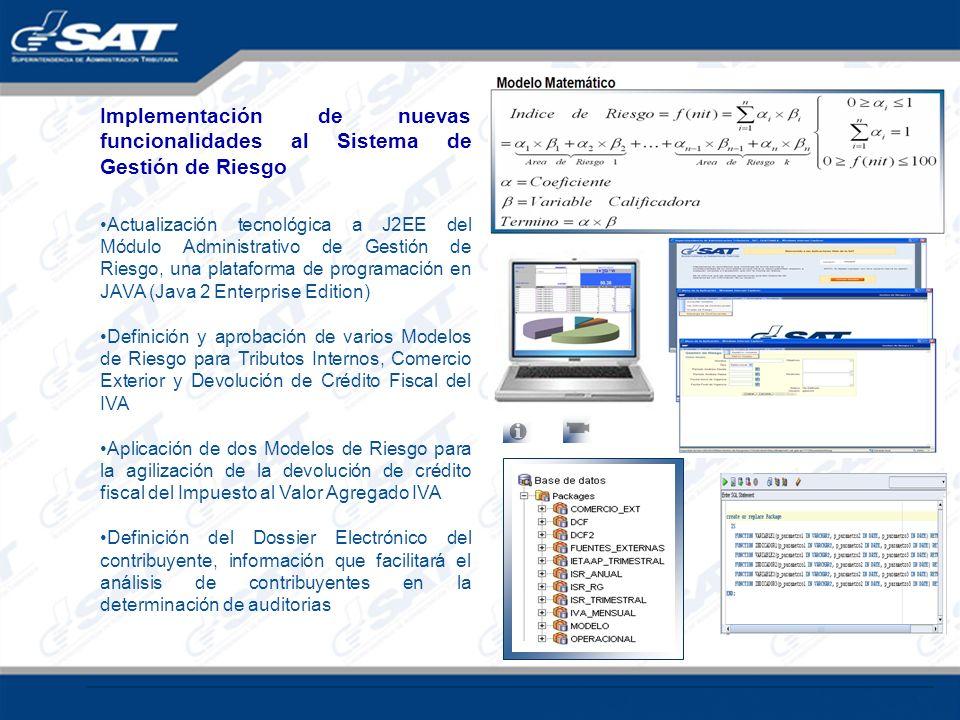 Implementación de nuevas funcionalidades al Sistema de Gestión de Riesgo Actualización tecnológica a J2EE del Módulo Administrativo de Gestión de Ries