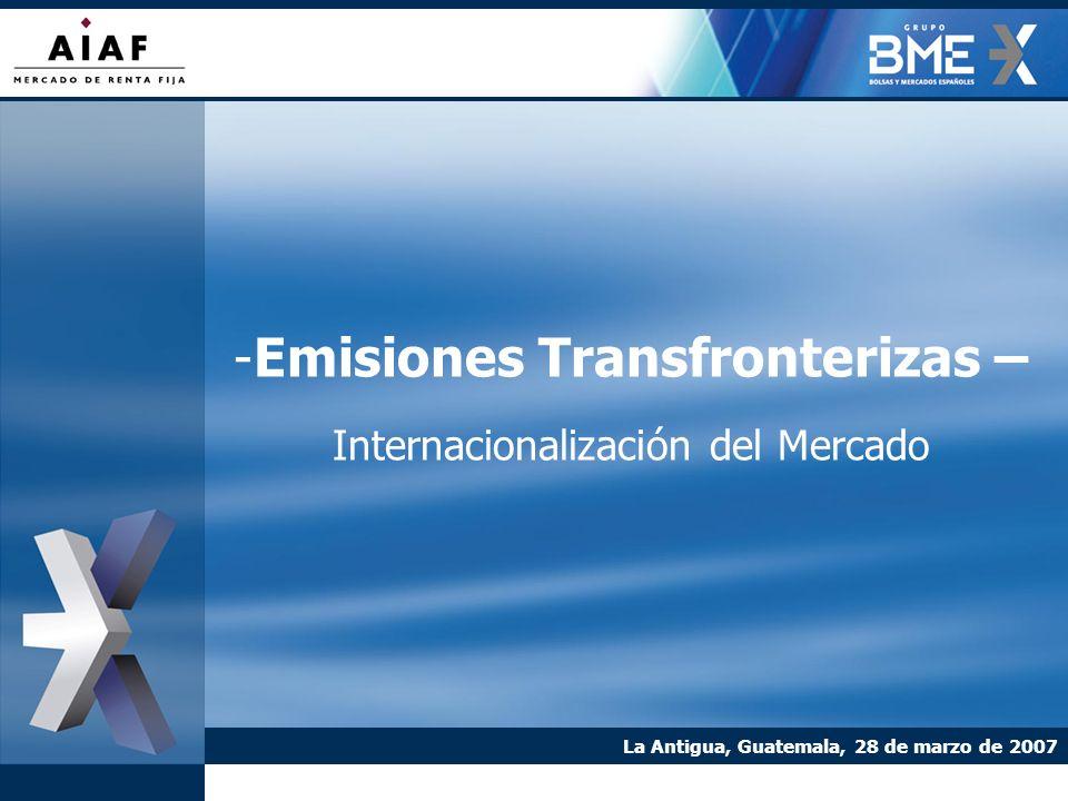 -Emisiones Transfronterizas – Internacionalización del Mercado La Antigua, Guatemala, 28 de marzo de 2007