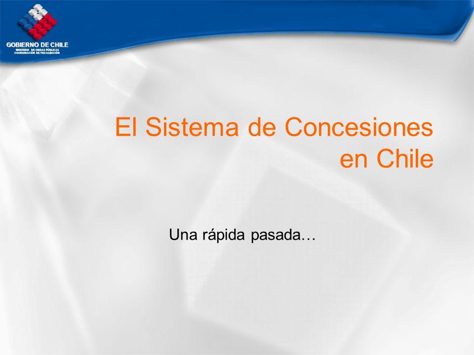 GOBIERNO DE CHILE MNISTERIO DE OBRAS PÚBLICAS COORDINACIÓN DE FISCALIZACIÓN El Sistema de Concesiones en Chile Una rápida pasada…