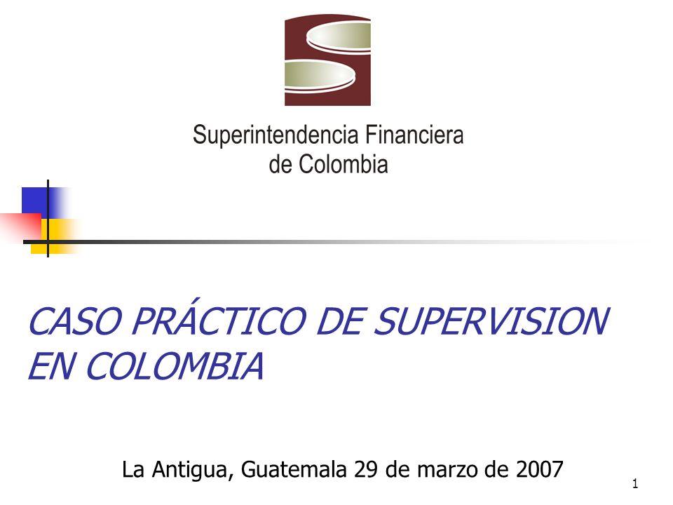 1 CASO PRÁCTICO DE SUPERVISION EN COLOMBIA La Antigua, Guatemala 29 de marzo de 2007