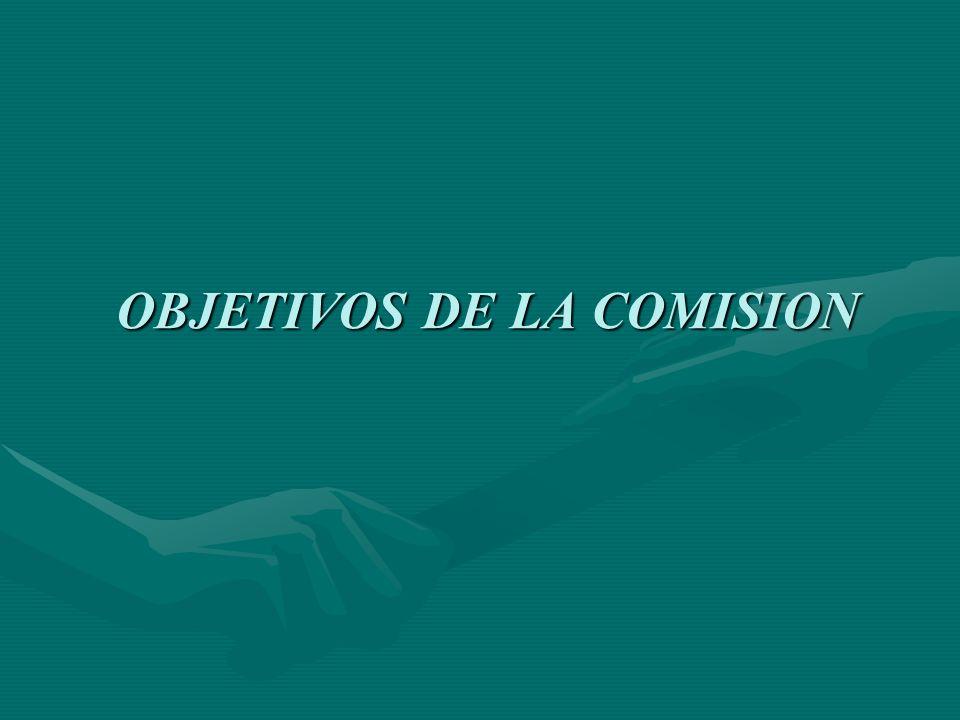 OBJETIVOS DE LA COMISION